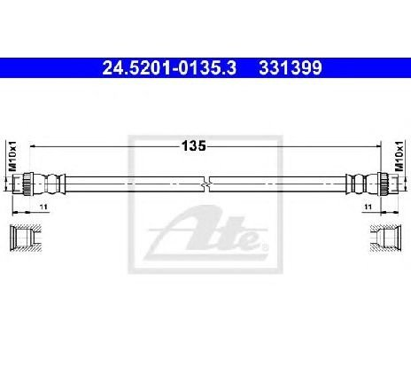 Furtun frana RENAULT MEGANE III cupe DZ0 1 PRODUCATOR ATE 24.5201-0135.3