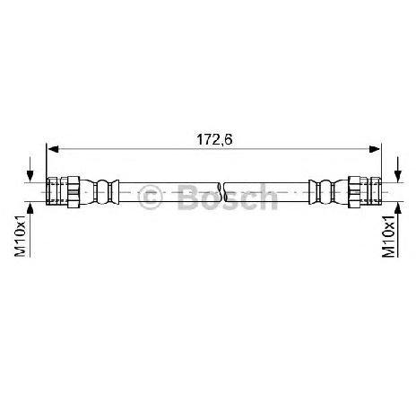Furtun frana VW LOAD UP ( US ) 12/2014 - 2019 - producator BOSCH 1 987 481 737 - 336247 - Piesa Noua