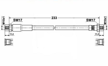 Furtun frana VW PASSAT B6 2.0 TDI