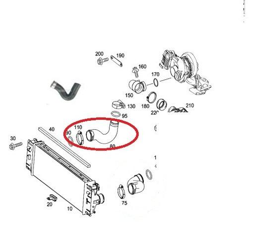 Furtun intercooler dreapta (pasager) pentru Mercedes Sprinter 9065280382