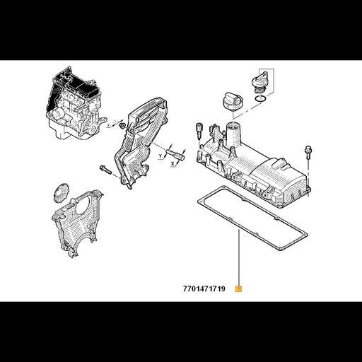 Garnitura capac chiulasa originala Dacia 1.4 1.6 Logan Solenza