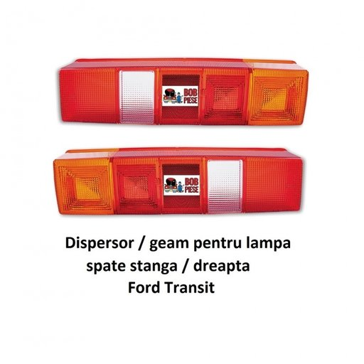 Geam / dispersor lampa spate / tripla stanga dreap