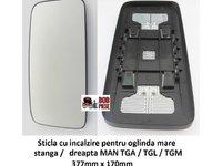 Geam / sticla oglinda MAN TGA/ TGS/ TGM/ TGX/ TGL 2000+, cu rezistenta | Piese Noi | Livrare Rapida