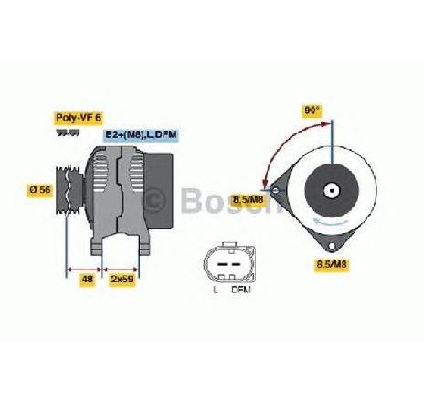 Generator / alternator AUDI A4 ( 8E2, B6 ) 11/2000