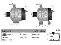 Generator / alternator FIAT 500 C ( 312 ) 09/2009 - 2018 - producator DENSO DAN1078 - 308500 - Piesa Noua