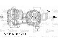 Generator / alternator FIAT PANDA ( 169 ) 09/2003 - 2018 - producator VALEO 437474 - 305055 - Piesa Noua