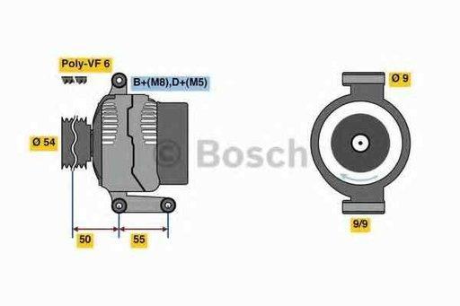 Generator / Alternator FIAT PUNTO EVO (199) BOSCH