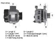 Generator / alternator OPEL CORSA B ( 73, 78, 79 ) 03/1993 - 12/2002 - producator LUCAS ELECTRICAL LRB00154 - 300189 - Piesa Noua