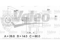 Generator / alternator SEAT IBIZA V SPORTCOUPE ( 6J1, 6P5 ) 07/2008 - 2018 - producator VALEO 436364 - 307567 - Piesa Noua