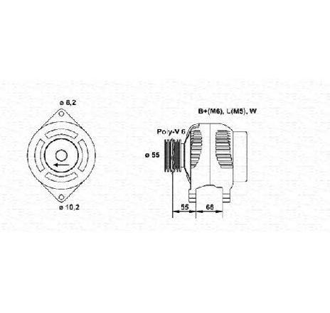 Generator / Alternator VOLVO V40 combi VW PRODUCAT