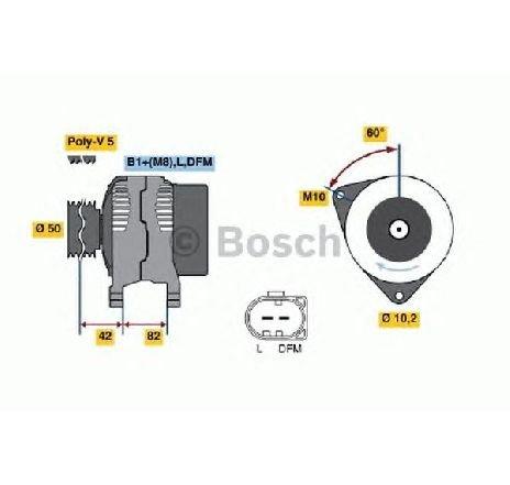 Generator / alternator VW LUPO ( 6X1, 6E1 ) 09/1998 - 07/2005 - producator BOSCH 0 986 042 640 - 303398 - Piesa Noua