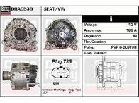Generator / alternator VW PASSAT Variant ( 365 ) 08/2010 - 12/2014 - producator DELCO REMY DRA0539 - 309004 - Piesa Noua