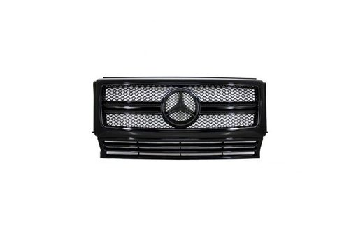 Grila Centrala neagra Mercedes Benz W463 G-Class G65 AMG Look Piano Black Edition