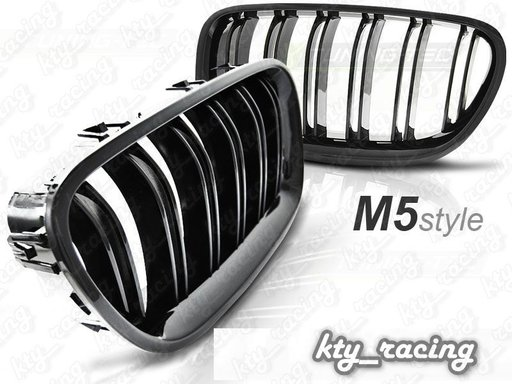 GRILE BMW SERIA 5 F10 NEW M5 M LOOK NEGRU LUCIOS