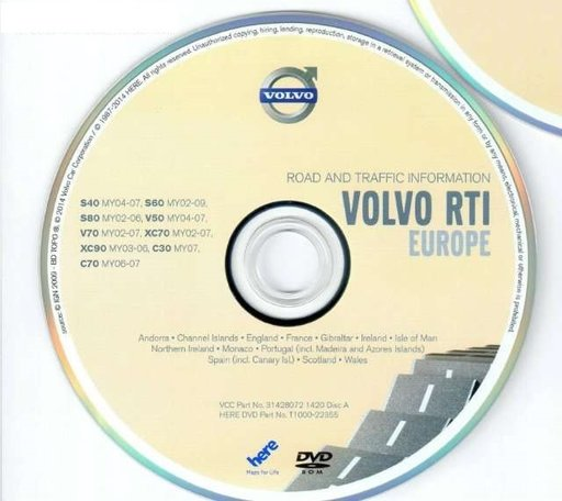 Hărți GPS Volvo C30 C70 S40 V50 XC90 navigație RTI MMM+ HDD ROMÂNIA+Europa