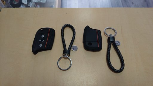 Husa moale din silicon pentru cheie VW Polo 2016 Golf 7 Tiguan Skoda Octavia A7 Kodiaq Karoq Seat Leon Ibiza