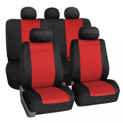 Huse Auto Fractionata Rosu Fata+Spate Premium