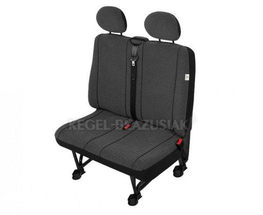 Huse scaun bancheta auto cu 2 locuri Scotland M size pentru Fiat Scudo Mercedes Vito Peugeot Expert Vw T4 T5
