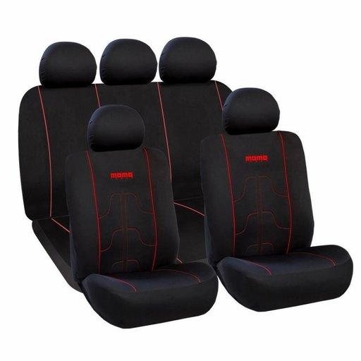 Huse Scaune Auto Acura Integra - Momo Negru Rosu 11 Bucati
