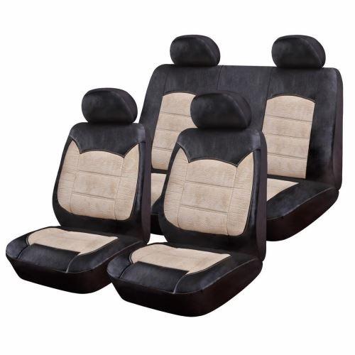 Huse Scaune Auto Hyundai I10 - RoGroup Luxury Negru Crem 9 Bucati