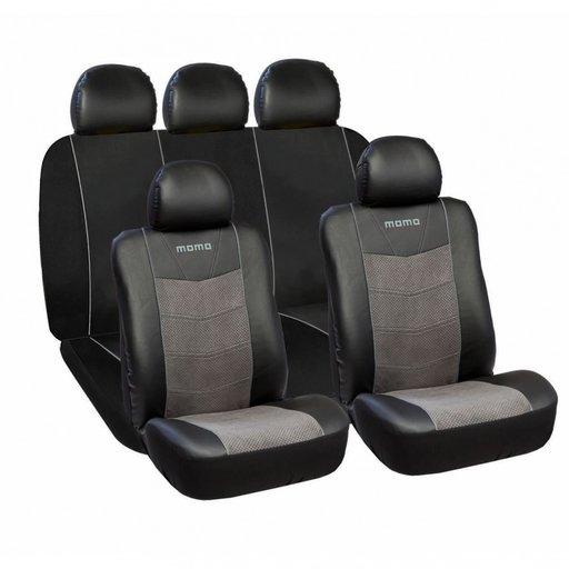 Huse Scaune Auto Skoda Octavia 2 Premium - Momo Piele Ecologica Suede 11 Bucati