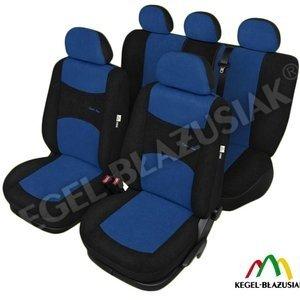 Huse scaune auto Sport Line Super L AirBag Albastre, set huse Kegel