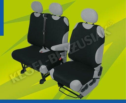 Huse scaune auto tip maieu pentru microbuz/VAN 2+1 locuri culoare Negru