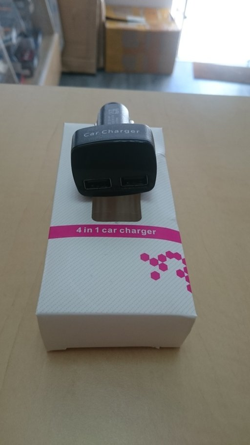 Incărcător de mașină 4 in 1 5V 3.1A Adaptor USB dual