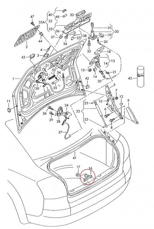 Inchidere portbagaj AUDI A4 / A6