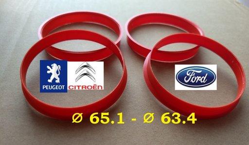 Inele de centrare 65.1 x 63,4 pt a monta pe Ford 63,3 jante de Peugeot-Citroen