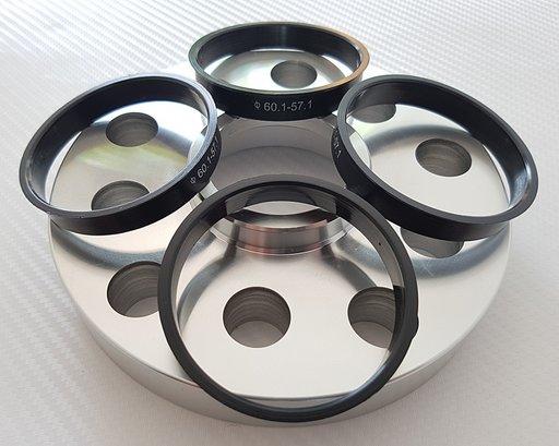 Inele de centrare de la 60,1- 57,1 mm - NOI - PLASTIC