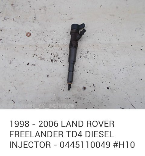 Injectoare 0445110049 LAND ROVER FREELANDER (LN) 2.0 Td4 204D3, M 47 motor bmw