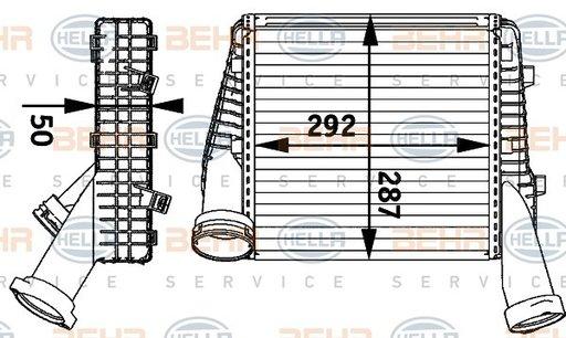 INTERCOOLER COMPRESOR - HELLA - 8ML 376 729-561
