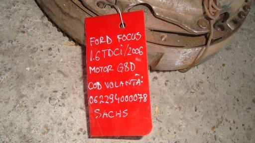 Kit ambreiaj Sachs pentru Ford Focus 1.6 tdci (volanta+disc+placa) motor G8D cod volanta 062294000078