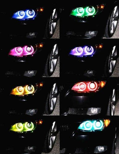 Kit Angel Eyes RGB Led BMW Seria 3 E46 Touring 1994-2004 - 16 culori cu telecomanda-echipate cu lupe cu xenon