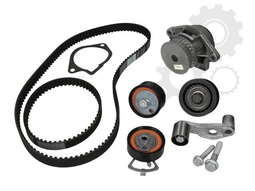 KIT DISTRBUTIE COMPLET : 2 CURELE , 4 ROLE , PP DE APA , PT VAG GROUP 1999-2015 MOTOARE 1.4 BENZINA