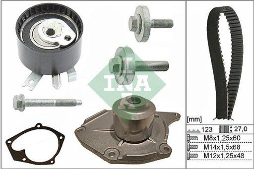 Kit distributie complet ( contine pompa apa) INA pentru Dacia Logan 1.5dci