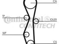 Kit distributie CONTITECH CT1140K1 Ford S-Max (Wa6) Mondeo 4 Limuzina (Ba7) Mondeo 4 Turnier (Ba7) Mondeo 4 (Ba7) Kuga 1 Grand C-Max 3008 508 Galaxy (Wa6) 508 Sw Rcz Jumpy Expert Caroserie (Vf3A, Vf3U