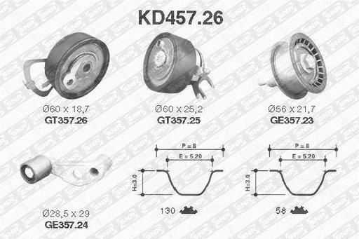 Kit distributie Gates VW GOLF 4 1.6 16V