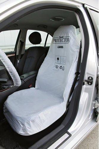 Kit huse scaun protectie plastic albe (100 buc.)