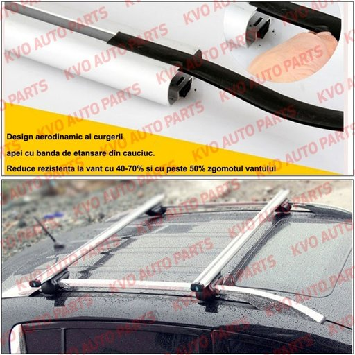Kit set bare portbagaj cu cheie SAAB 9-4X 2010-2012 - Aluminiu - BRT021