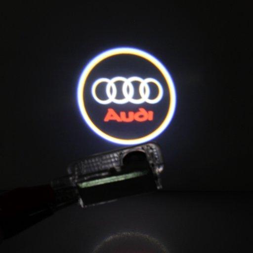 Lampa / Lampi logo LED portiere Audi, BMW, Skoda,