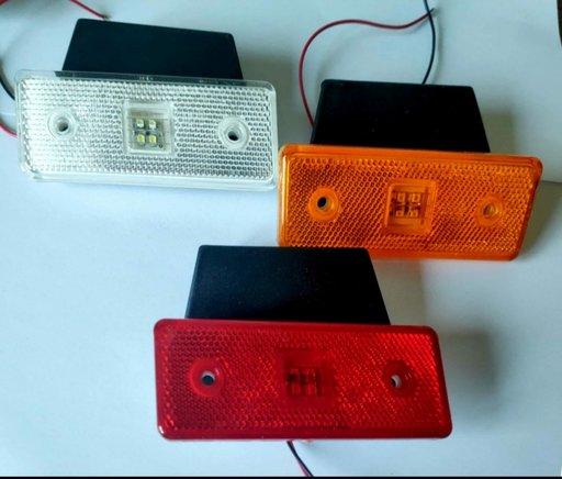 Lampa laterala 4 LED-uri 12V-24V cu suport