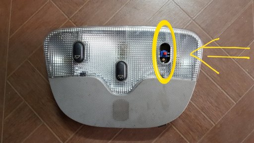 Lampa plafon Peugeot 607