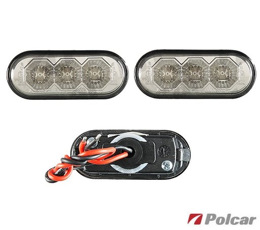 Lampa semnalizare aripa Volkswagen Passat 3B Polo Bora Golf 4 Seat Leon Toledo cu 3 leduri set de 2 bucati stg