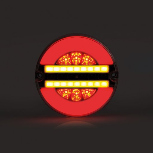 Lampa stop cu leduri rotunda cu 4 functii, 12-24 V