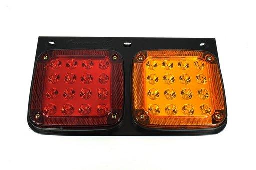 Lampa stop SMD 2001AR (stanga + dreapta) 12V / 24V 32 LED-uri SMD Rezistenta la apa IP66