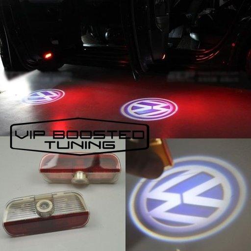 LAMPI LED Proiector cu logo dedicat VW Passat B6 3C