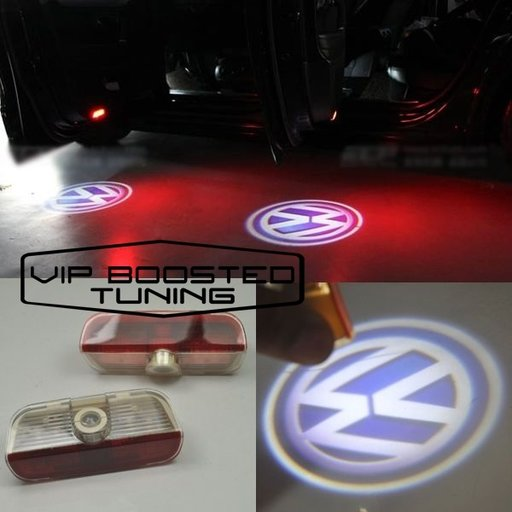 LAMPI LED Proiector cu logo dedicat VW Passat, Golf, Touareg, Sharan