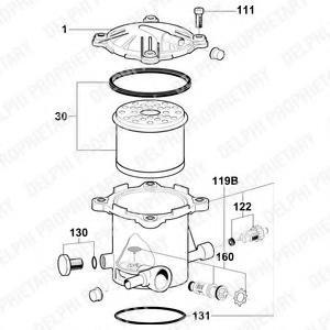 Locas filtru combustibil PEUGEOT 806 (221), CITROËN XANTIA (X1), CITROËN ZX (N2) - DELPHI 6350012